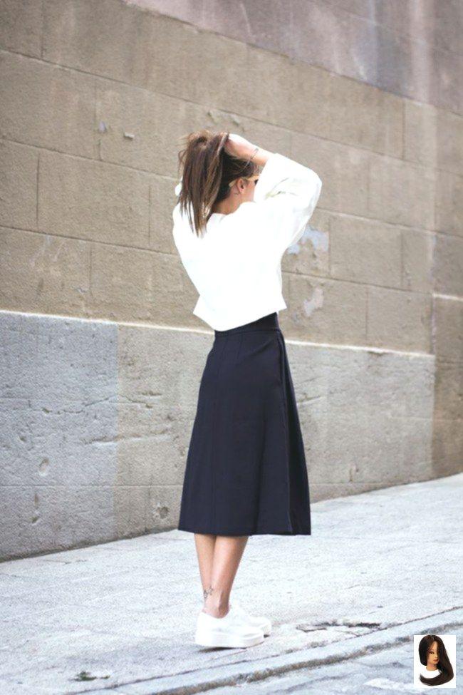 die #euch #günstig #ihr #kombinieren #Midi Skirt sneakers