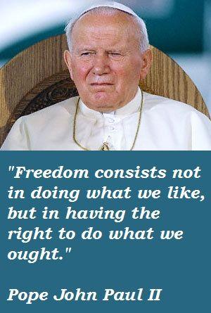 Saint Pope John Paul II (4/27/14). One amazing man indeed.