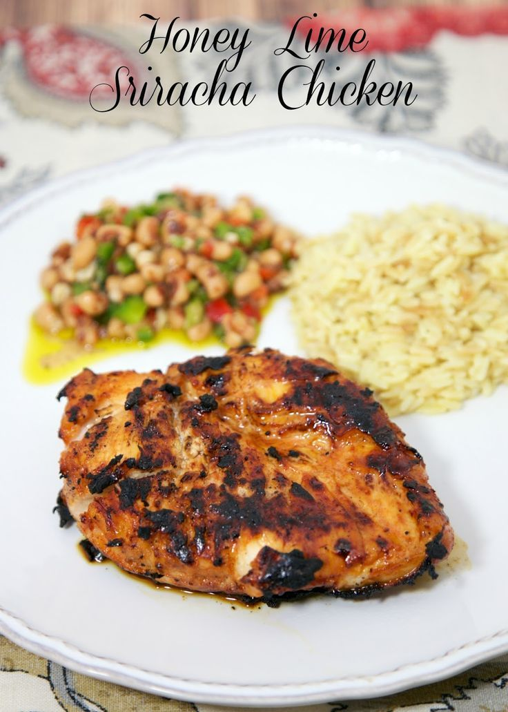 Honey Lime Sriracha Chicken - high in flavor, low in fat