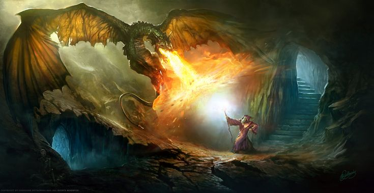 Gandalf vs. Dragon. This is gorgeous.