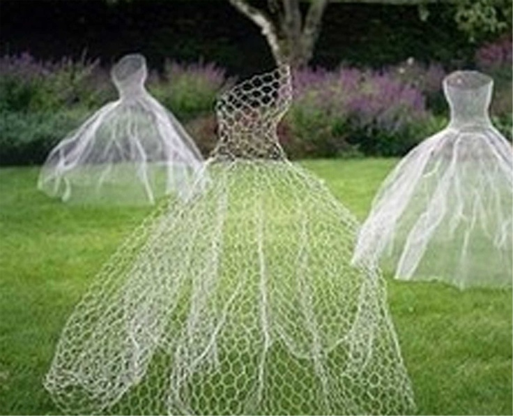 chicken wire wedding dresses. Bossy found this... Love the idea! I have the best, best men ever!
