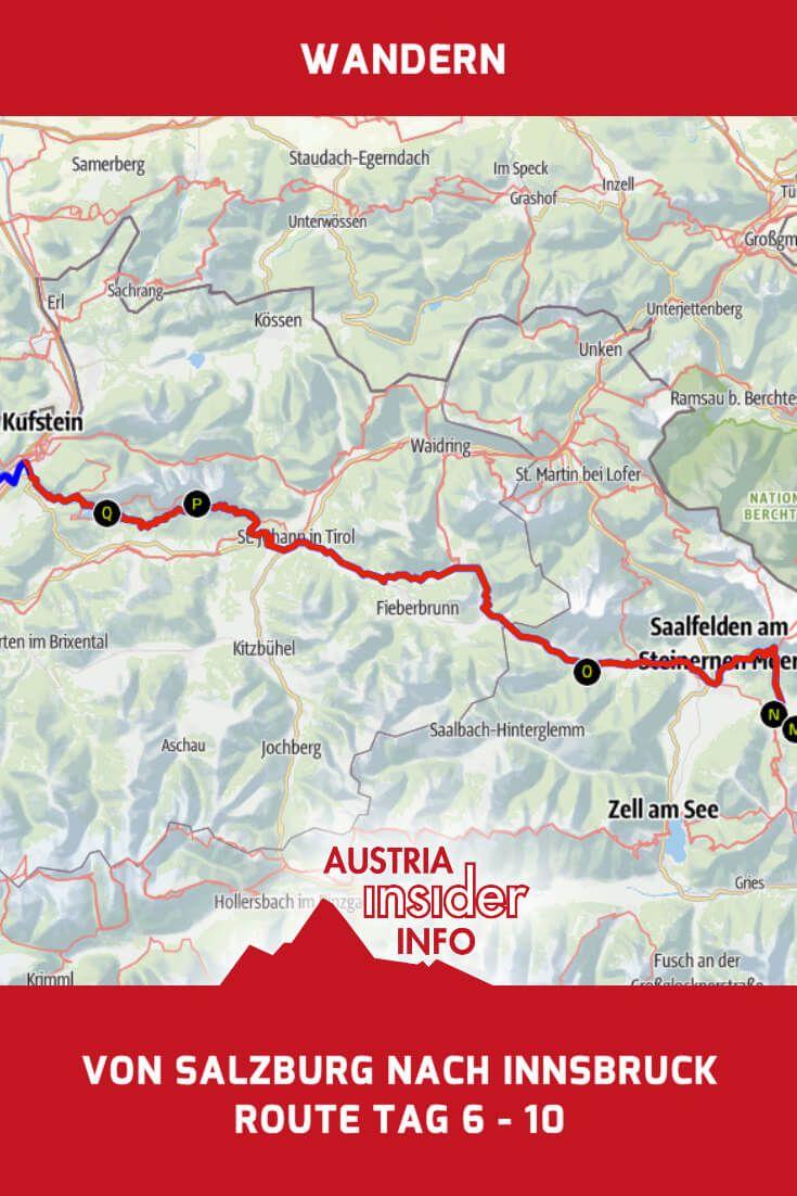 Weitwandern Salzburg Innsbruck Route Tag 6 10 Salzburg