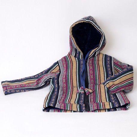 Cazadora hippie para niños, de loneta de algodon con interior de tejido de…