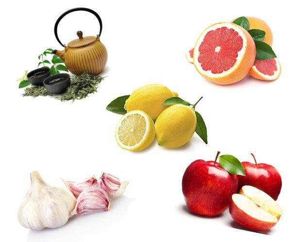 Cibi per disintossicare il fegato #salute #aglio #limone #thèverde #mela #pompelmo #dieta #disintossicazione
