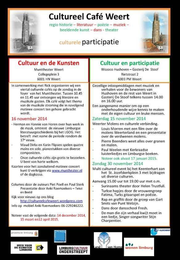 We zijn al een heel eind op scheut met de organisatie van een multi culturele middag op 30 november a.s. tussen 15.00 en 19.00 uur in het Keenter Hart. Naast amusement zullen we ook een dialoog org...