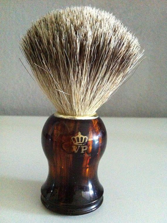 Vintage German Badger Shaving brush rein Dachs Borsten Rasier