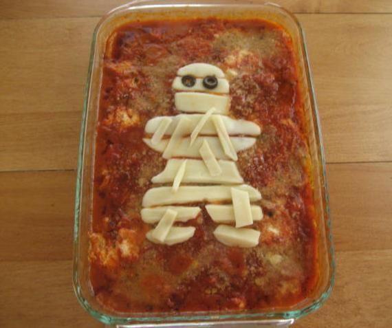 mom halloween zucchini casserole recipe for mummy - Halloween Casserole Recipe Ideas