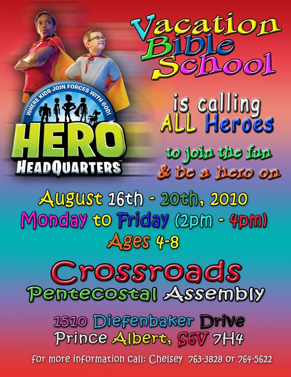 flyer idea VBS Pinterest