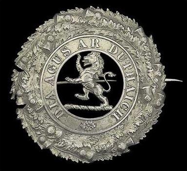 5th (Perthshire) Volunteer Battalion, The Black Watch (Royal Highlanders), Victorian piper's plaid brooch, circa. 1887, 72mm dia.