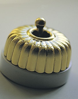 Brass dolly switches for kitchen and Bathrooms. baileys by mail   lighting