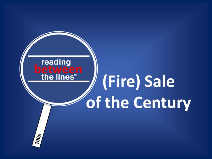 The (Fire) Sale of the Century is about to take place. Find out about it here at Reading between The Lines  http://neilfindlay.com/2014/02/fire-sale-of-the-century-reading-between-the-lines/