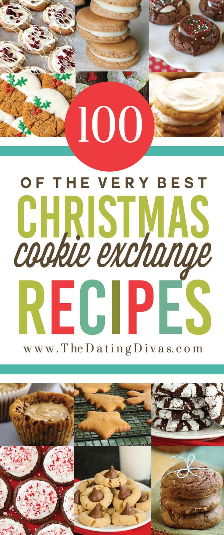 The absolute best list of Christmas recipes - especially for a Cookie Exchange Party!