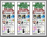 Super Six Comprehension & Good Reader Strategies    Love these! I can add them to my bookmark collection in my library.