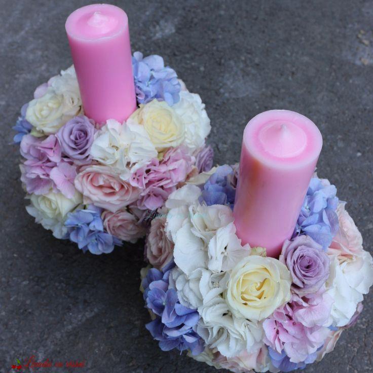 #lumanari #cununie #nunta #pastel #hortensie #trandafiri #wedding #candles #blush #blossom #romantic #blue #white #pink #lila #roses #hydrangea