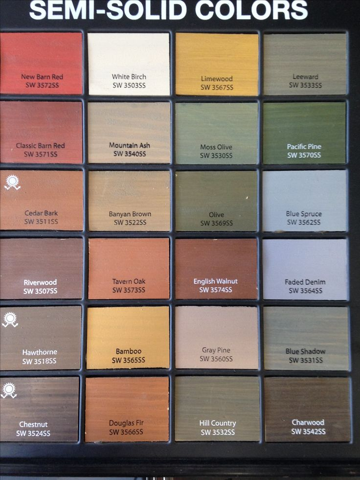 Sherwin Williams semi solid stains for deck & fence