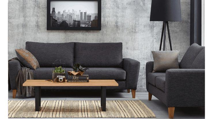 Karim Fabric Sofa | Domayne