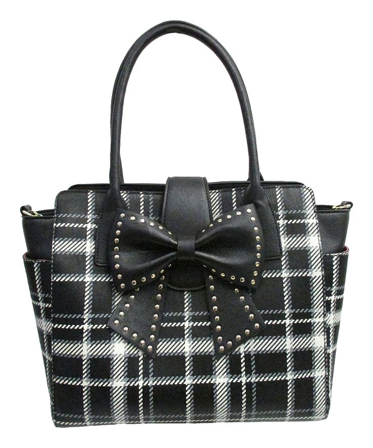 Betsey Johnson Black Plaid Sincerely Yours Tote | zulily