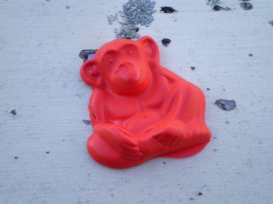 Red crayon monkey I made myself