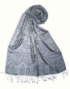 Fular Seda Natural Italiana Paisley