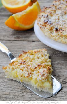 Sbriciolata all'arancia con crema ricetta dolce vickyart arte in cucina