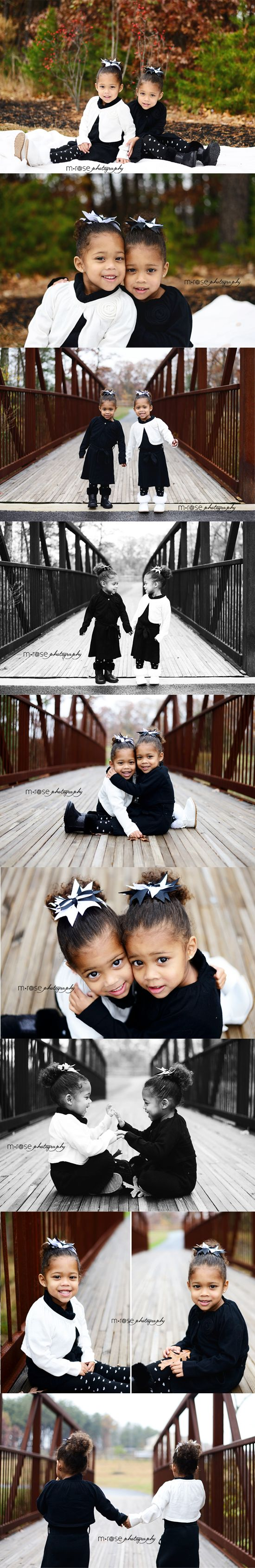 Twin Girls. Twin Three-Year Old. Three-Year-Old Girl Photoshoot | M Rose Photography