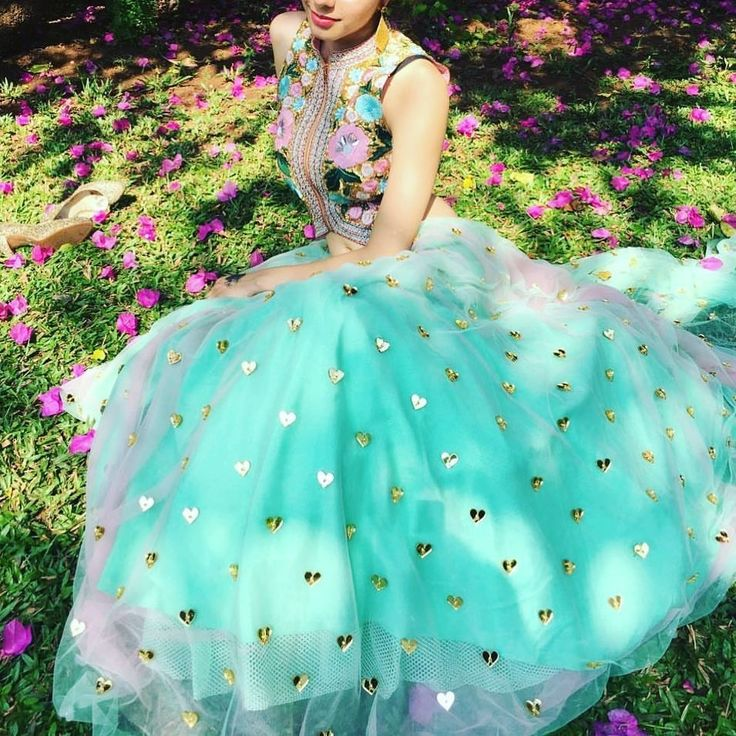 I bet you haven't seen hearts on a lehenga before. Outfit by Papa don't Preach by Shubhika. #Frugal2Fab