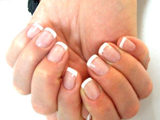 short acrylic nails  Love how natural these look . Want to get mine to that someday