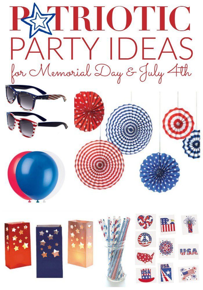 Patriotic Party Ideas! These are some of my favorite Party Ideas for 4th of July, Memorial Day, and Labor Day!