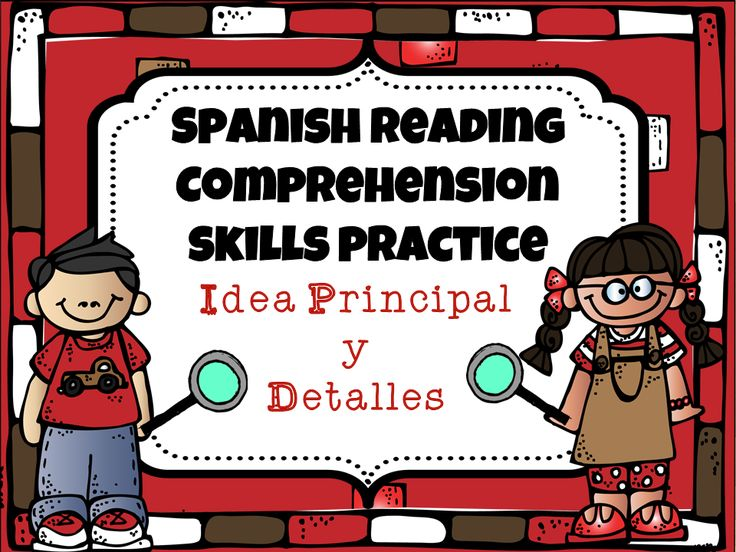 8 short texts for elementary Spanish students to practice finding the main idea and supporting details.