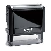 """Trodat 4915 Custom Self-Inking Stamp 1"""" x 2-3/4"""". The most common Printy stamp for  business address stamps. Up to six lines of custom message, add a logo for extra impact. Very common size, used in shipping departments and general front office applications."""