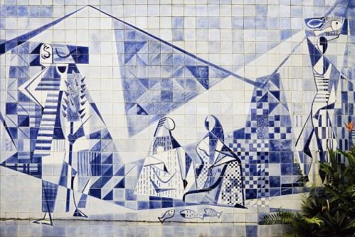 Tile mural by Burle Marx.