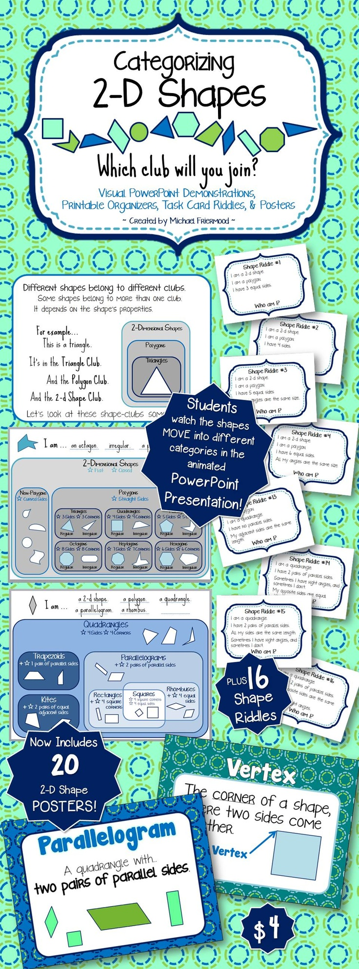 88 best Maths - géométrie images on Pinterest | Teaching math, Area ...