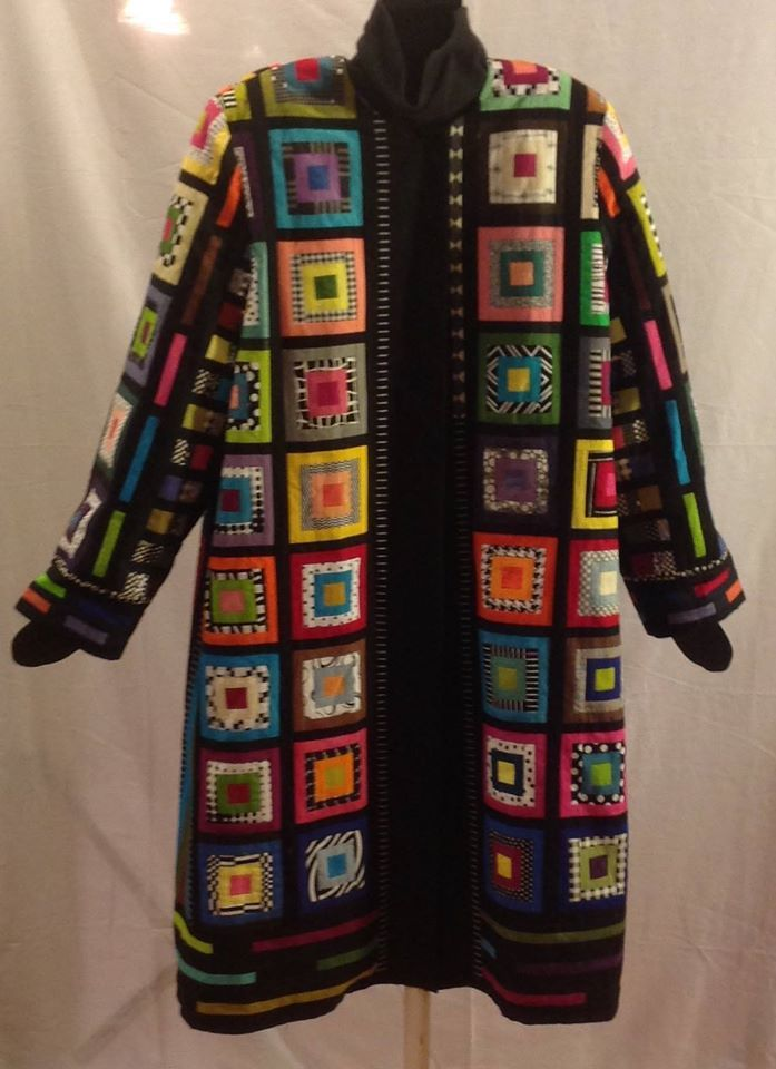 patchwork coat by Rachel Clark