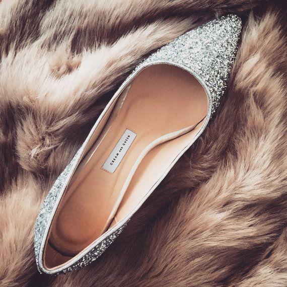 EU 38,low heel wedding shoes,silver wedding shoes,low heels,Glitter Shoes,wedding shoes,Bridesmaid shoes,girlfriend gift,Pumps, Mid heel