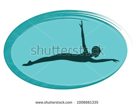 Female swimmer in butterfly style - isolated on white background - Vector illustration.