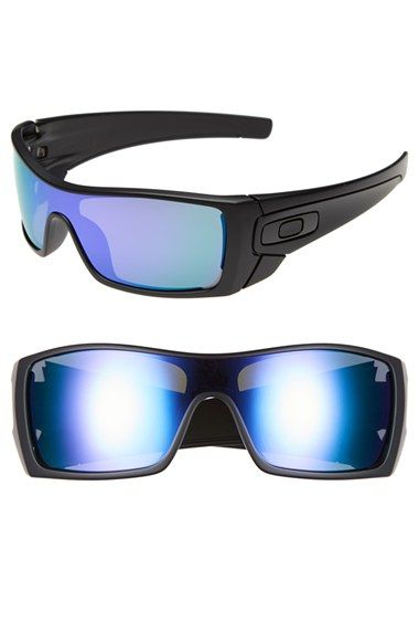 http://www.styleyourwear.com/category/oakley-sunglasses/ Men's Oakley 'Batwolf' Sunglasses - Matte Black