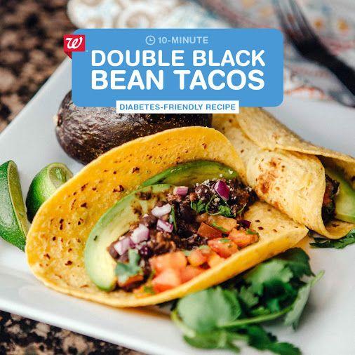 ... Black Bean Tacos Recipe Try out diabetes friendly double black bean