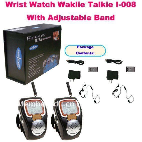 Рация уникальный 2 шт. наручные часы I-008 с регулируемым оркестра ( сша : 22 канал, Европа : 8 Cahnnels ) мини часы радио для детей