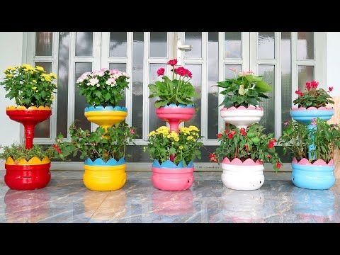 Ideias Incriveis Reciclar Garrafas De Plastico Em Vasos Bonitos E
