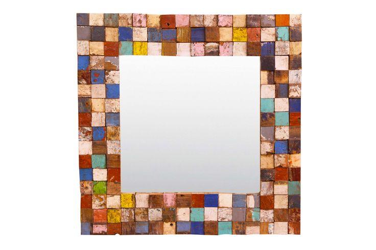 Boat Wood Mosaic Mirror. www.droversinsideandout.com.au