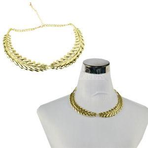 Vintage Leaf Motif Collar necklace