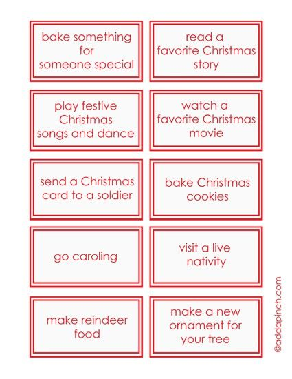 This Children's Advent Calendar Printable adds a bit of fun and memorable traditions to your Christmas. 30 children's advent calendar ideas and cards.