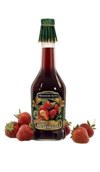Syrop truskawkowy. Strawberry syrup. Jest niesamowitym wspomnieniem dzieciństwa. Po otwarciu butelki wydobywa się wspaniały zapach, a po rozcieńczeniu z wodą - smakuje orzeźwiająco. Idealnie nadaje się też jako sos do jogurtów, wypieków, lodów i innych deserów. Cena: 11,00 zł. #Strawberry #Truskawki #Syrup #Syrop