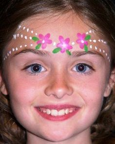 easy face painting flower - Google Search