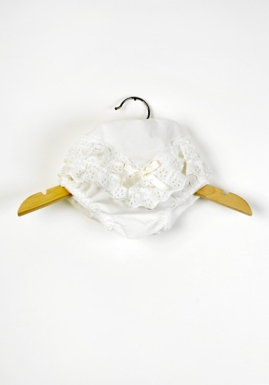 Pretty Ivory Baby Girls Lace Knickers