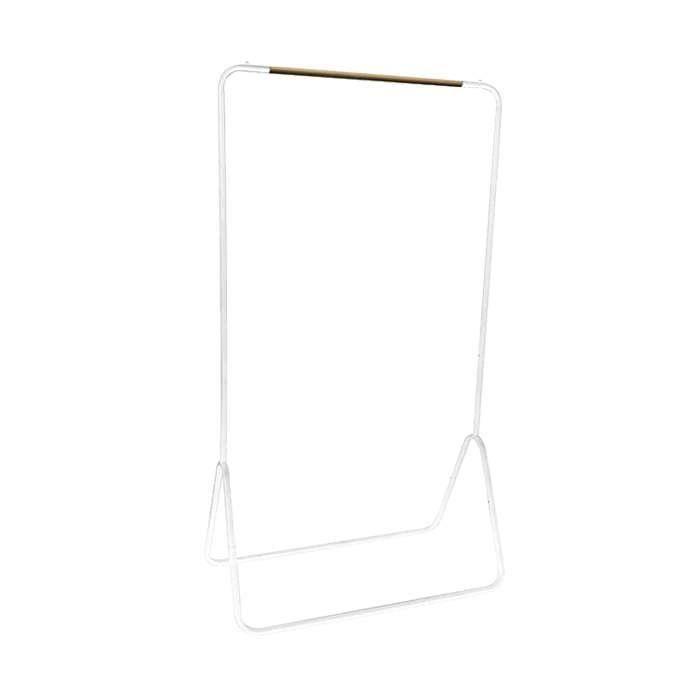Compactor Portant Elias En Tubes D Acier Blanc Penderie Mobile Porte De Dressing Portant Vetement