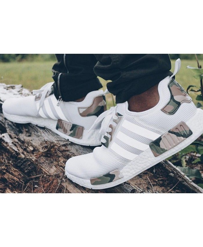 74dcf510be2 Adidas NMD Mens Primeknit White Camo Custom Army Trainers Sale UK ...