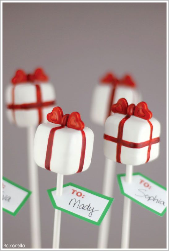 learn to make these pretty Present Cake Pops by Bakerella