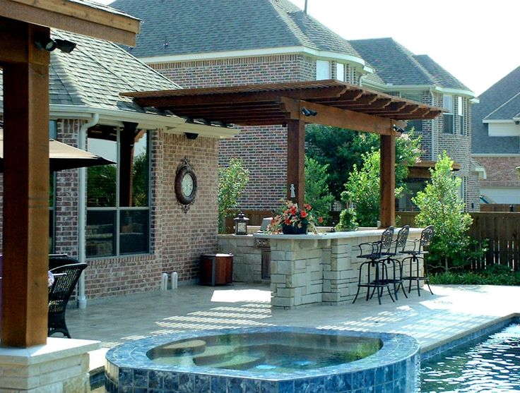 backyard pool and outdoor kitchen designs design e inside inspiration