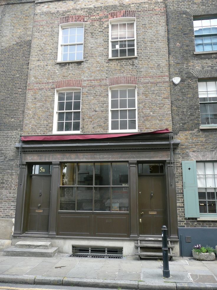 5 Fournier Street, Spitalfields. The old 'Market Cafe' frequented by Gilbert and George - http://patrickbaty.co.uk/?p=2280